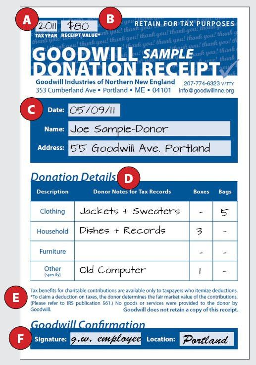 how-to-fill-out-a-donation-receipt | Goodwill NNE