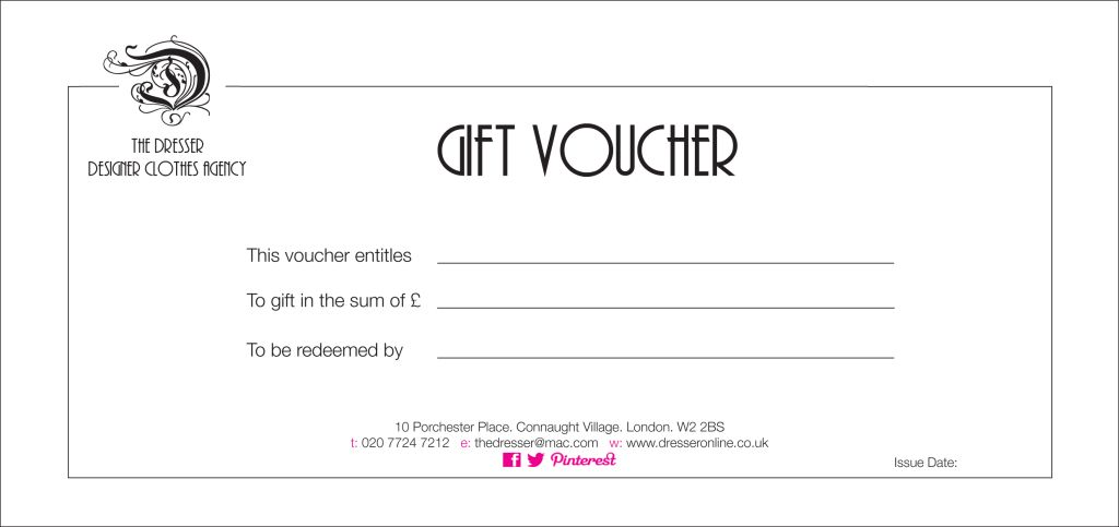 Simply Lovely Gift Voucher Format Sample with Company Logo and ...