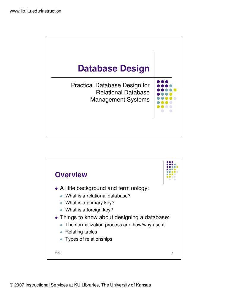 Database design & Normalization (1NF, 2NF, 3NF)