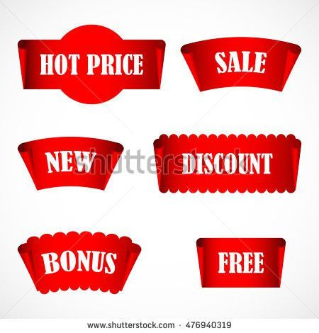 Vector Stickers Price Tag Banner Label Stock Vector 476940319 ...