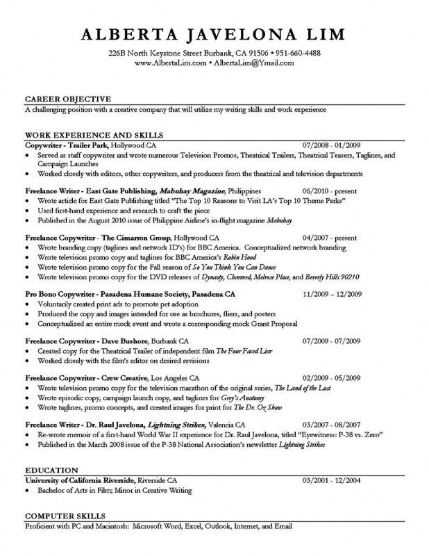 sample resume with professional title for job objective. sample ...
