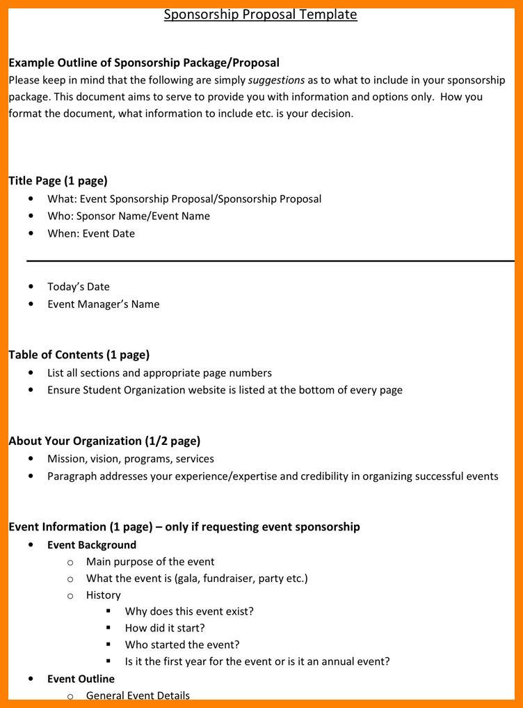 10+ sample proposal for sponsorship for an event | joblettered