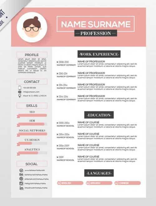 Illustrator Resume Templates. 15 Free Creative Resume Templates ...