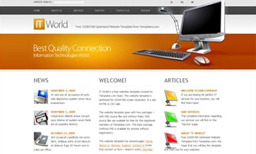 35+ Free Amazing HTML/CSS Templates