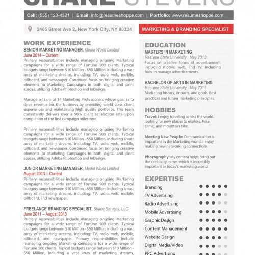 Creative Resume Templates - Secure the Job|Resumeshoppe