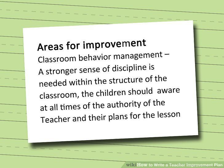 How to Write a Teacher Improvement Plan: 8 Steps (with Pictures)