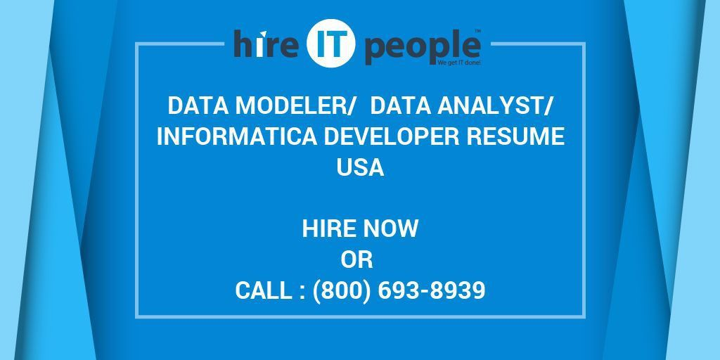 Data Modeler/ Data Analyst/Informatica Developer Resume - Hire IT ...