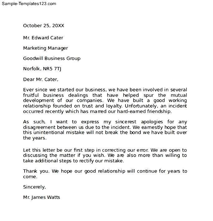 Business Apology Letters. Business Apology Letter To Client ...