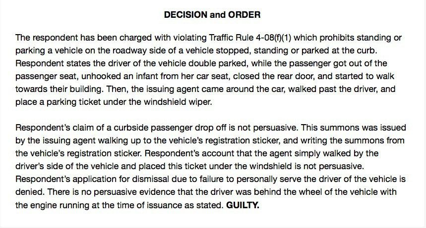 How to Win a Double Parking Ticket Appeal