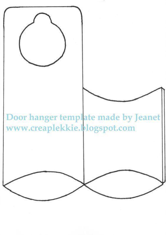 Blank Door Hanger Template | |LIBRARY| Printables | Pinterest ...