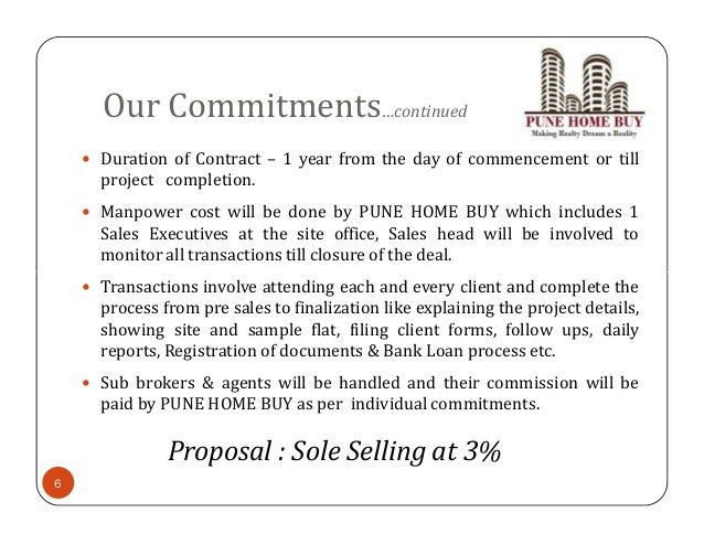 Real Estate Sole selling proposal for residential & commercial proper…