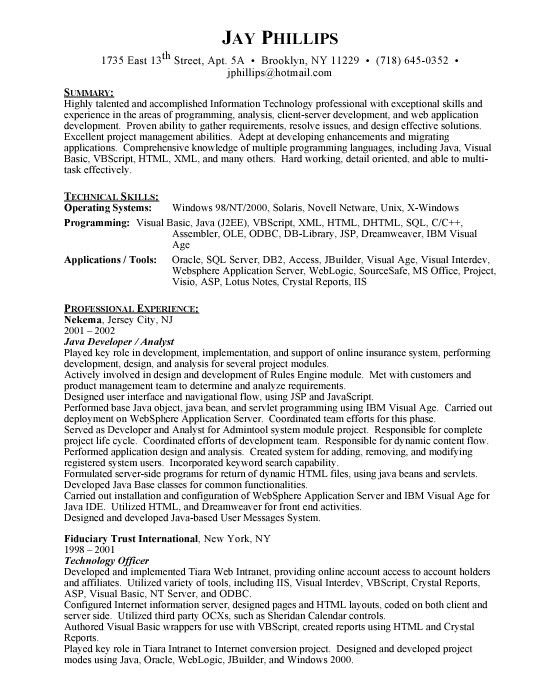 java developer resume thelongwayupinfo java web developer resume ...