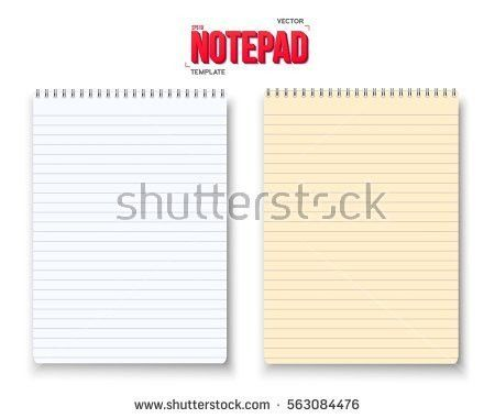 Free Notebook Paper Background Vector - Download Free Vector Art ...