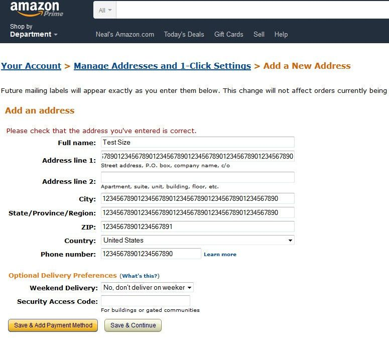 street address - Dealing with Long 60 Character Addresses from ...