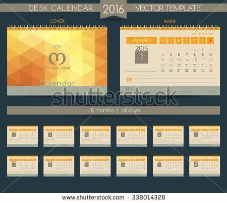 Desk Calendar 2018 Vector Design Template Stock Vector 714903103 ...