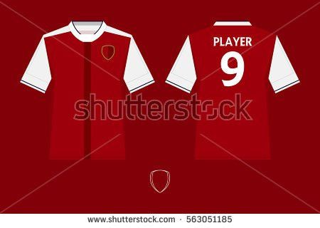 Set Soccer Kit Football Jersey Template Stock Vector 563051185 ...