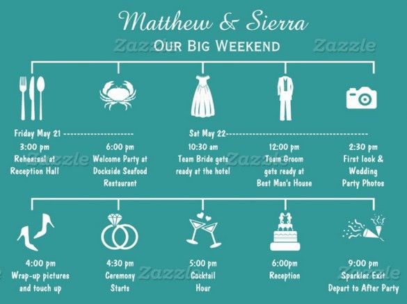 26+ Wedding Itinerary Templates – Free Sample, Example, Format ...