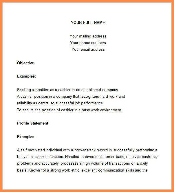 cashier resume sample | resume name