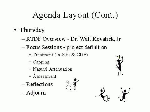 Agenda Layout (Cont.)