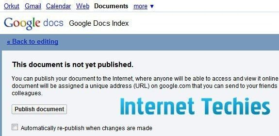 How To Index Documents of Google Docs on Search Engines