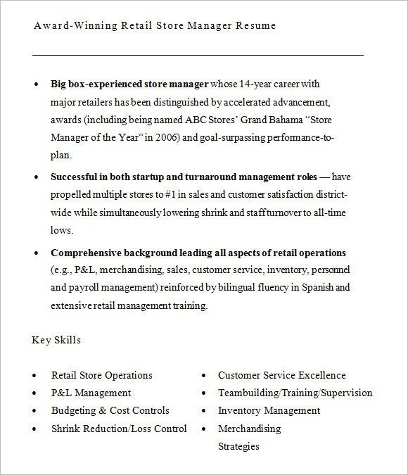 5 sample resume objectives sample resume objective for retail job ...