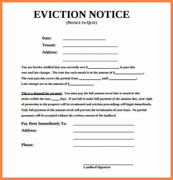 tenant eviction letter