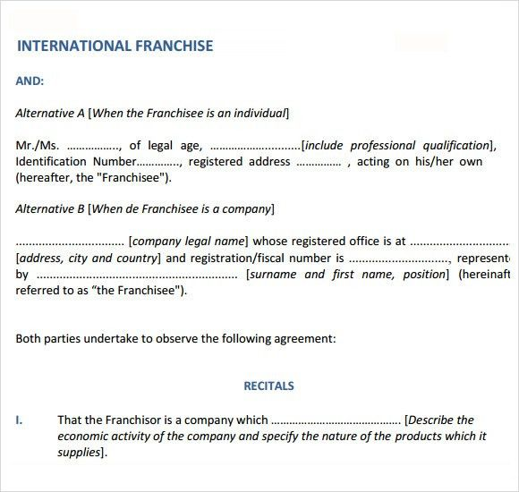 Sample Franchise Agreement – 8+ Documents In PDF, Word