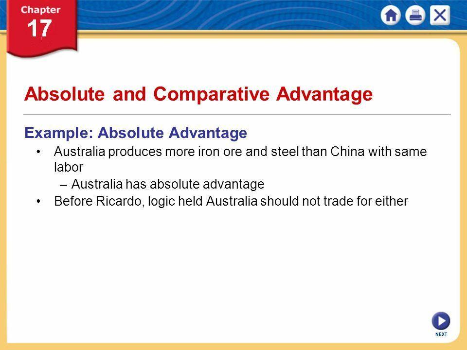NEXT International Trade. NEXT Chapter 17: International Trade KEY ...