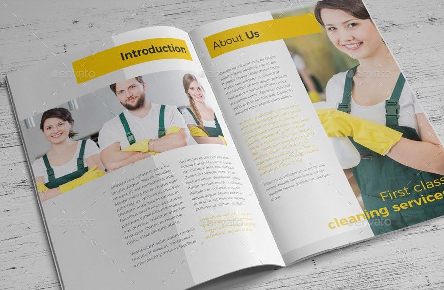 Cleaning Service Company Brochure by RahardiCreative | GraphicRiver