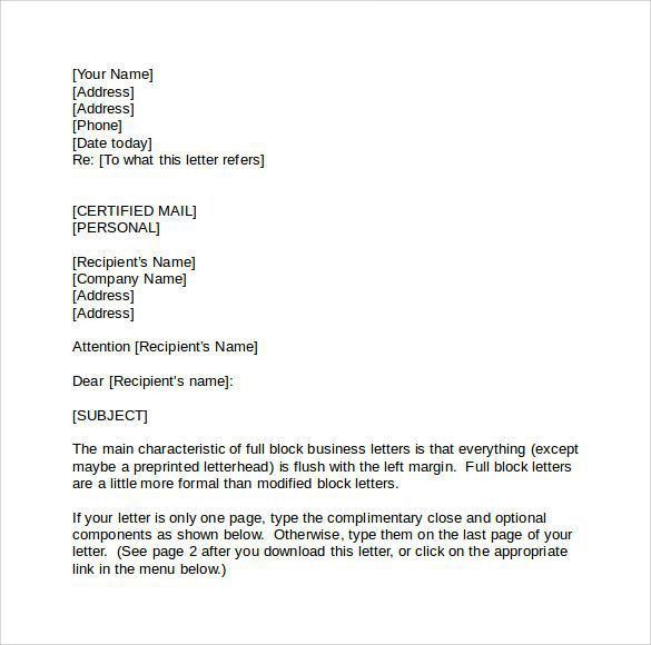 Business Letter Formats. Concentrate On Each Part Of Business ...