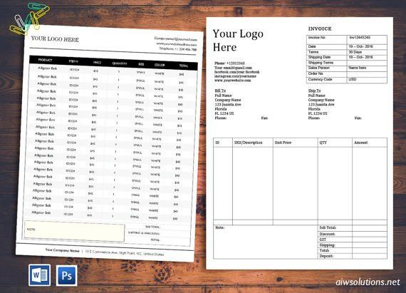 Price SheetInvoice Order form template cover order form