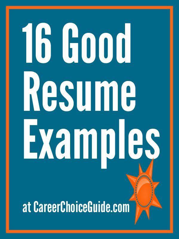 Best 25+ Good resume examples ideas on Pinterest | Good resume ...
