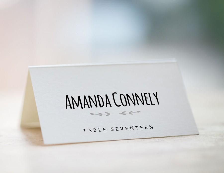 Printable Place Card Template, Wedding Place Card Template ...