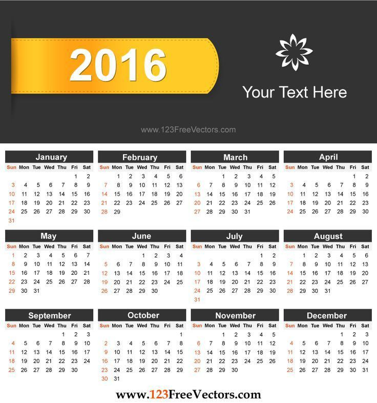 86 best 2016 Calendar Template images on Pinterest | Corporate ...