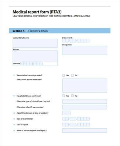 Sample Medical Report Forms - 8+ Free Documents in Word, PDF