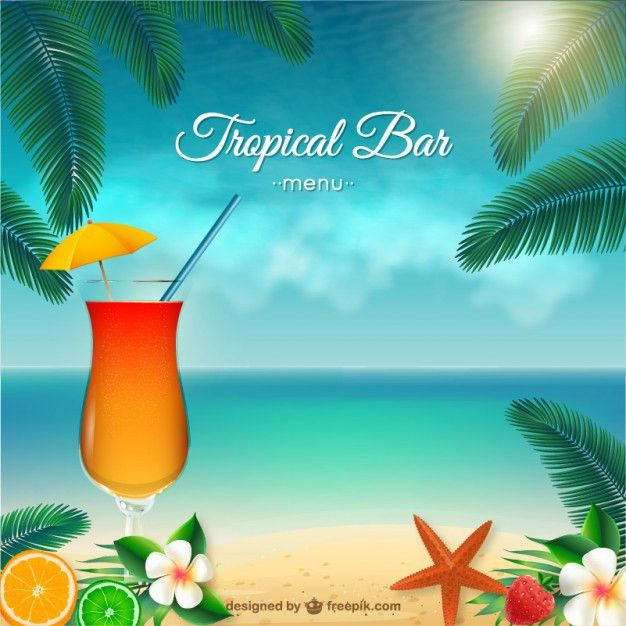 Tropical bar menu Vector | Free Download