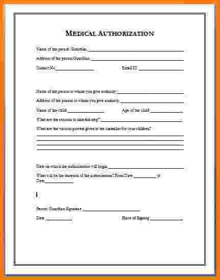 9+ medical authorization form | Card Authorization 2017