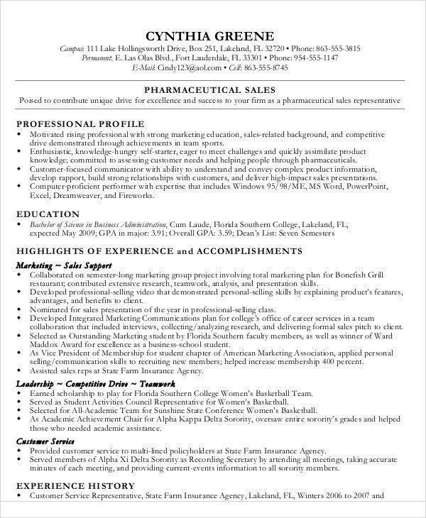 pharmaceutical resume sales representative resume pharmaceutical