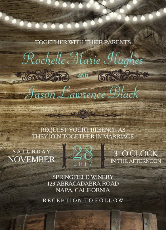 25+ Rustic Wedding Invitation Templates – Free Sample, Example ...