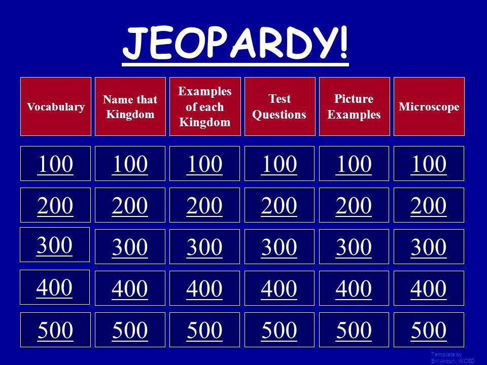Life Science JEOPARDY! Template by Bill Arcuri, WCSD. - ppt video ...