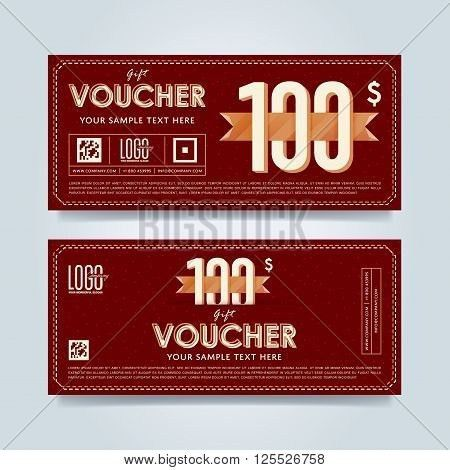 Voucher Design. Discount Coupon. Vector & Photo | Bigstock