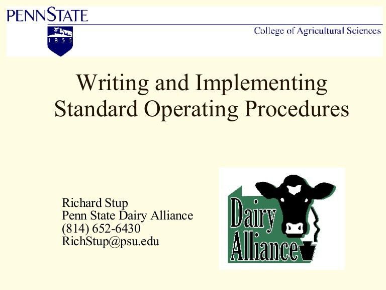 Writing And Implementing Standard Operating Procedures