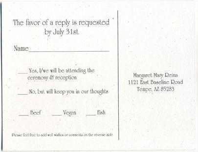 reply events wedding invitation response card wording beautiful ...
