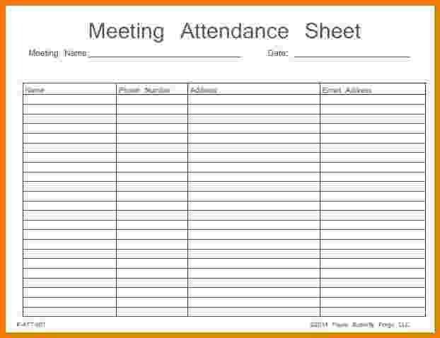 7+ meeting attendance sheet | Itinerary Template Sample