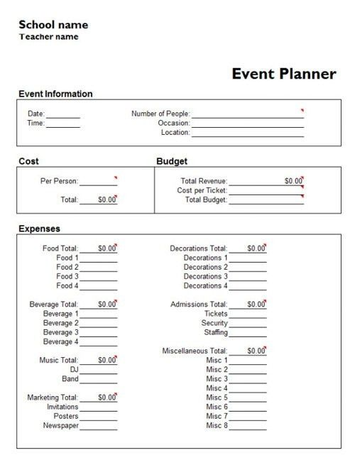 Event Planning Checklist Template Free Resume Letter Business ...