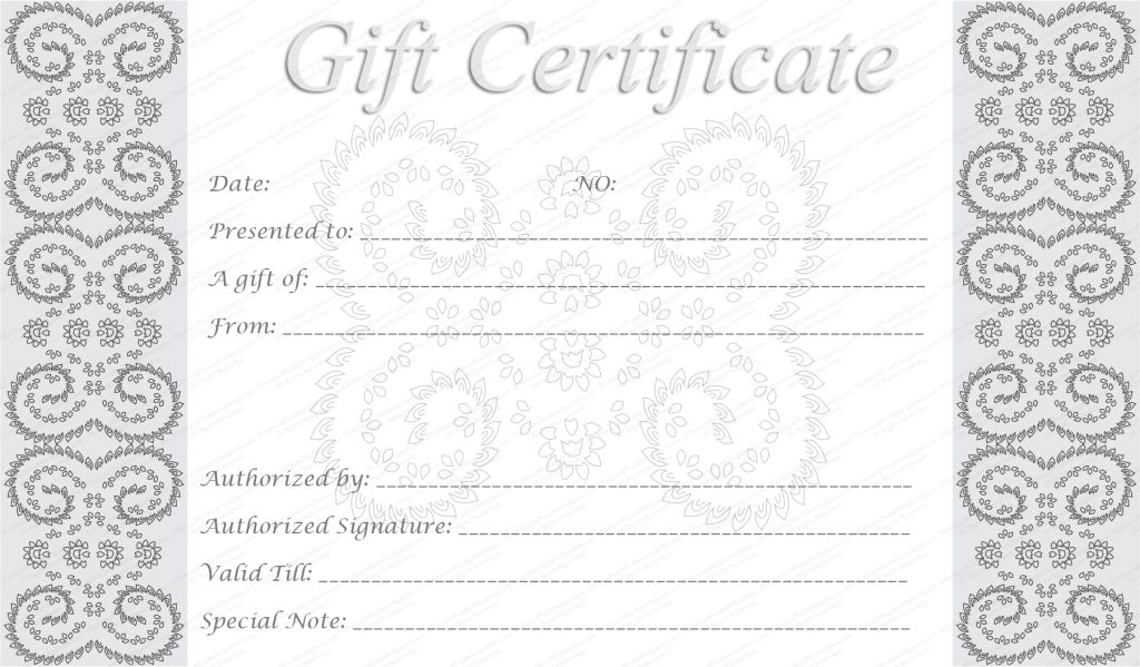 GiftVoucher #gifttemplate #giftcertificate | Beautiful Printable ...