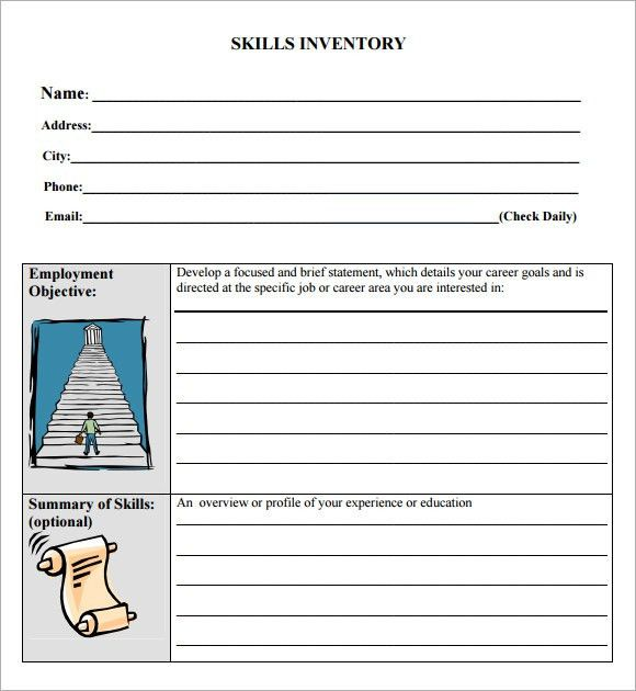Sample Skills Inventory Template - 10+ Free Documents Download in PDF