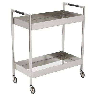 Wilshire Stainless Cart - Brushed Nickle - OSP Designs : Target