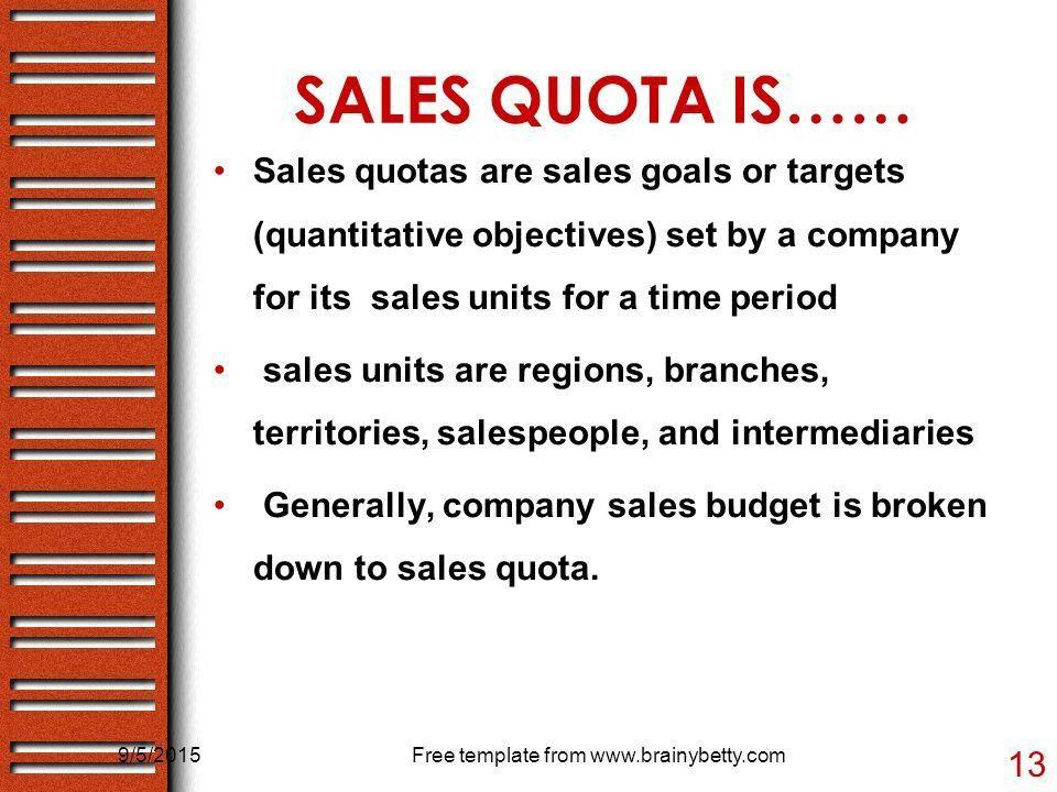 SALES Budget & sales QUOTA - ppt video online download