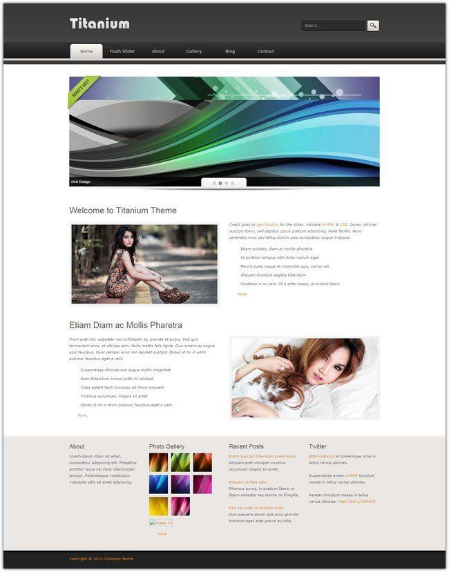 Dreamweaver Gallery Template. create a beautiful photogallery ...